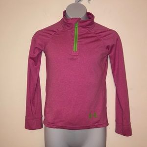 Under Armour Girls Quarter Zip Pullover